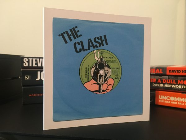 The Clash White Man In Hammersmith Palais Blue Art Card